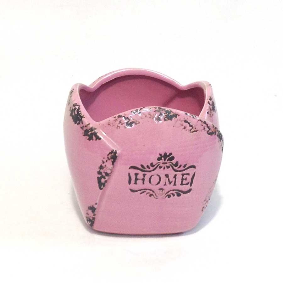 Кашпо керамическое HOME 12х12см розовое