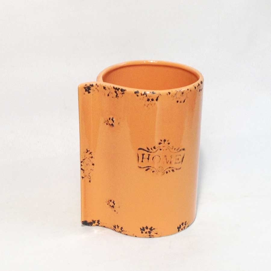 Ваза керамическая 18х12см оранжевая