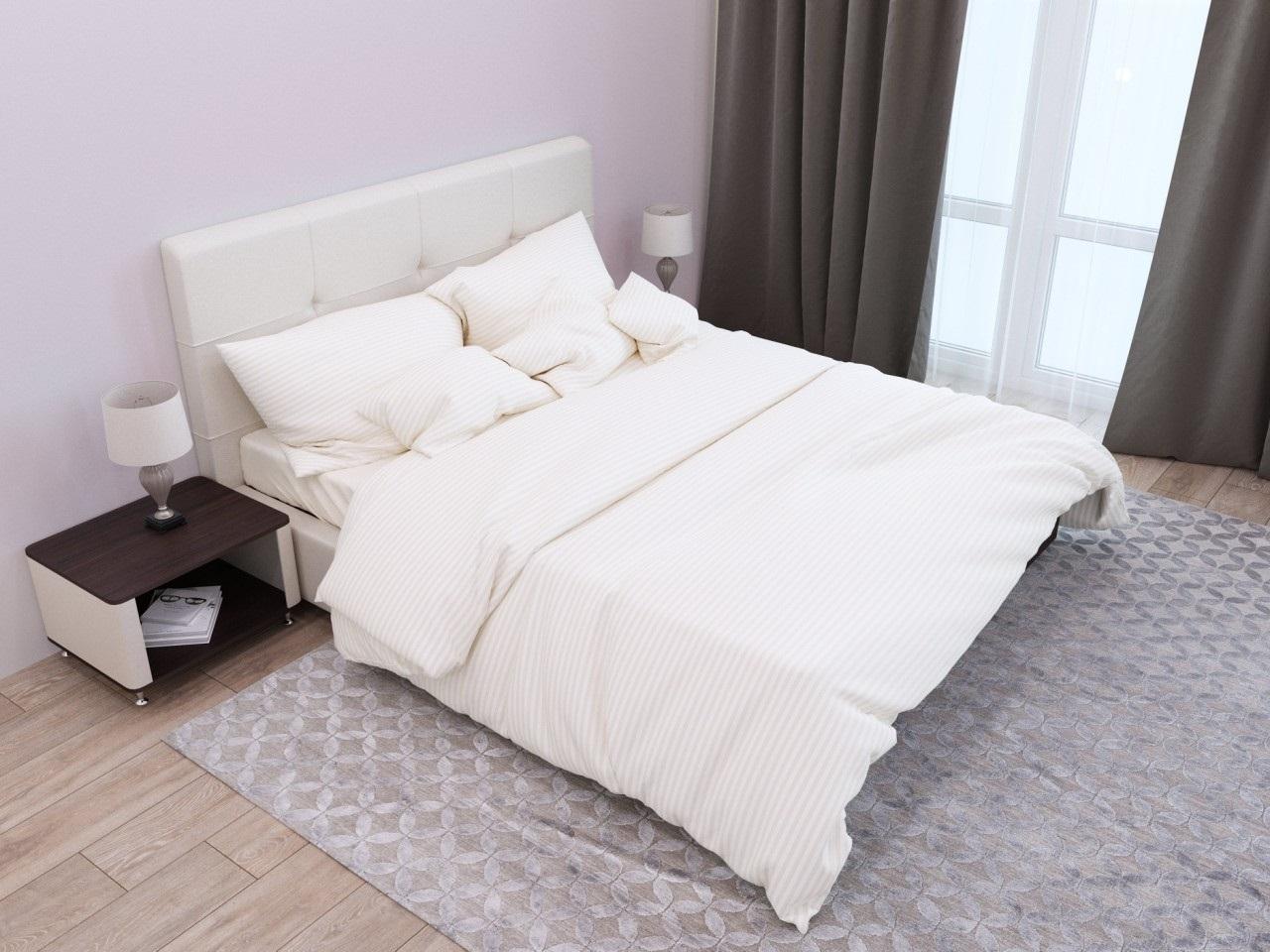 комплект постельного белья страйп-сатин ОСС-0507