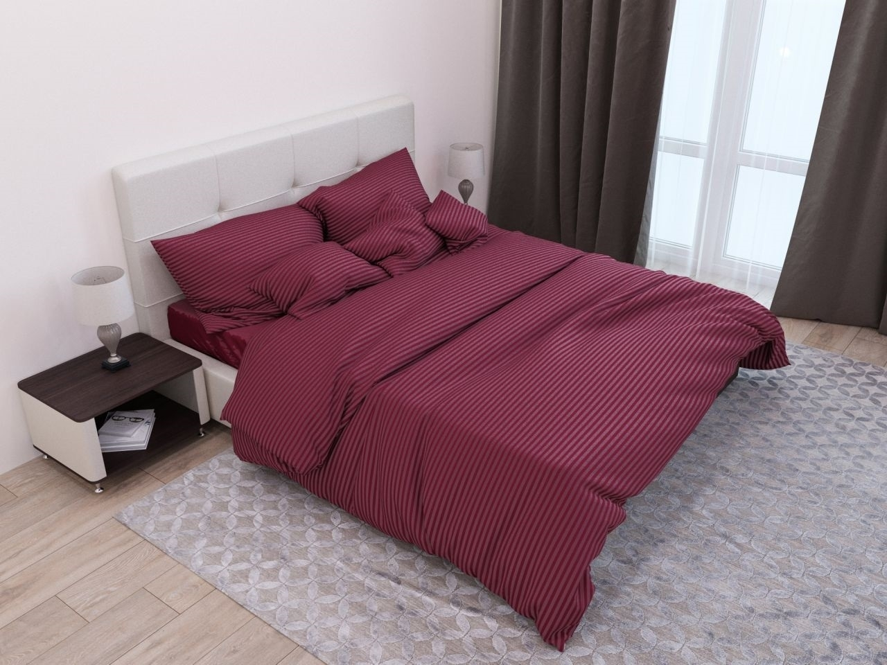 комплект постельного белья страйп-сатин ссс-1652