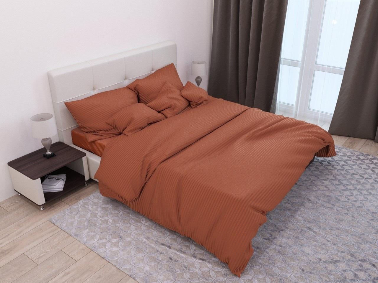 комплект постельного белья страйп-сатин ЕСС-1340