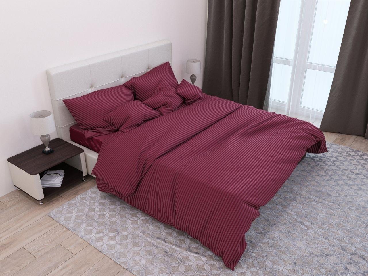 комплект постельного белья страйп-сатин ДСС-1652