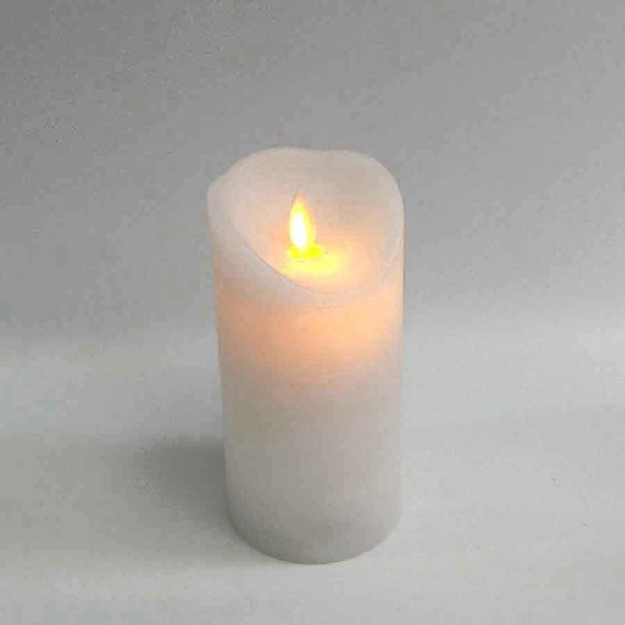 Свеча диодная, покрытая парафином с имитацией пламени 7,5х15см