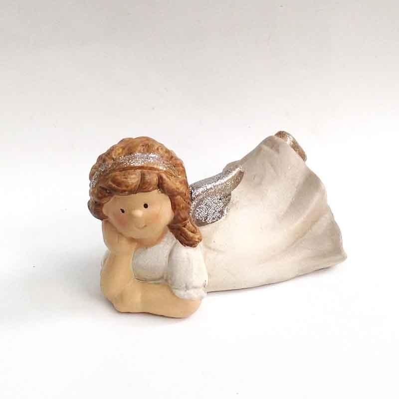 Фигурка лежащего ангела 15см