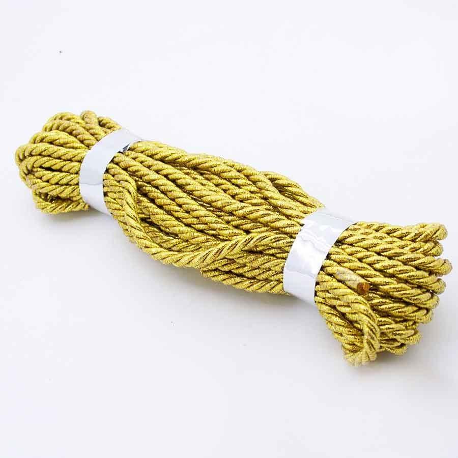 Шнур декоративный с люрексом золотой 5мм- 9м