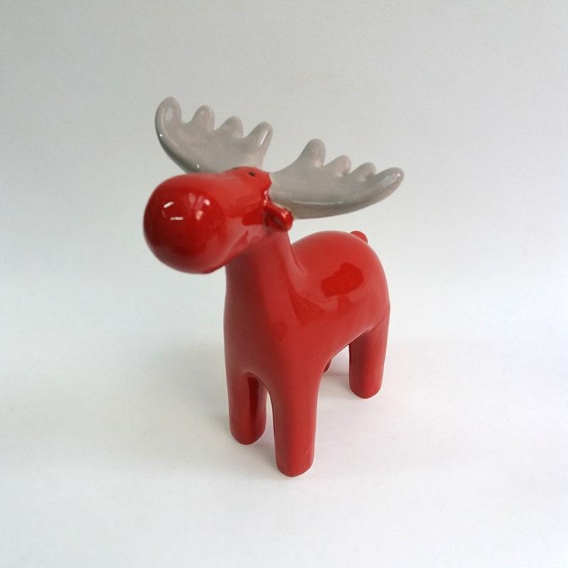 Фигурка керамическая Лось красный - 18см