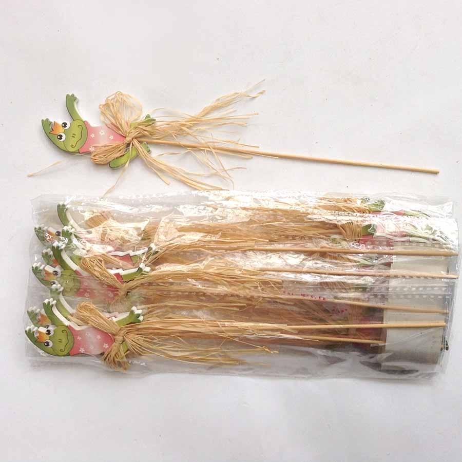 Декор на палочке -Царевне-лягушка - упаковка 12шт