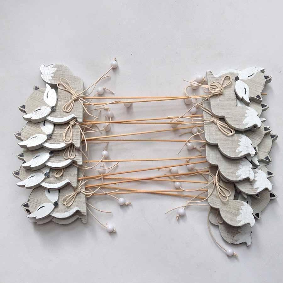 Декор на палочке -Лисичка - упаковка 12шт