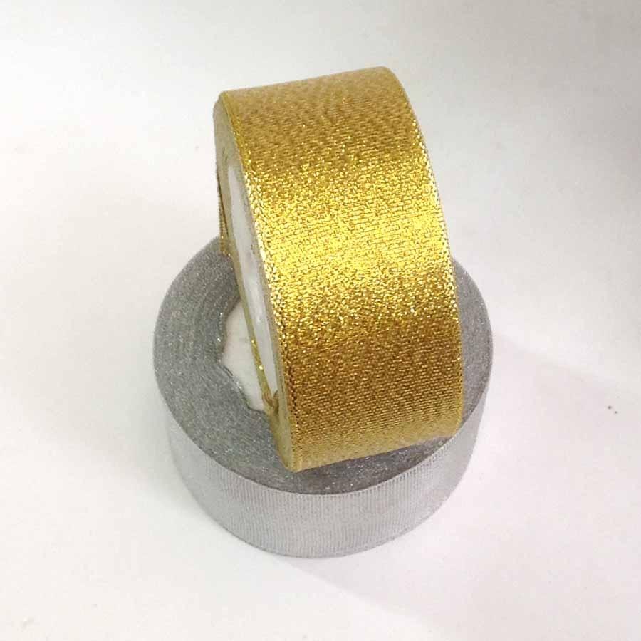 Лента парча золото 4см -23м