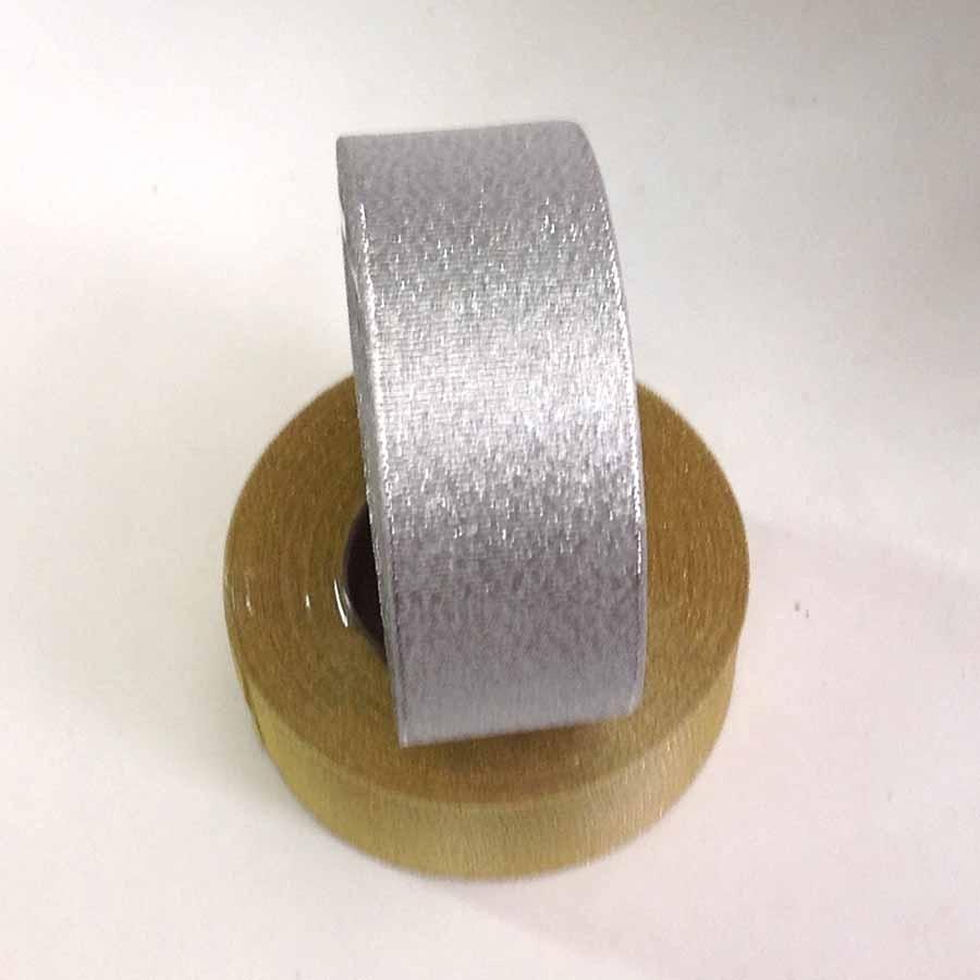 Лента парча серебро 3,8см -23м