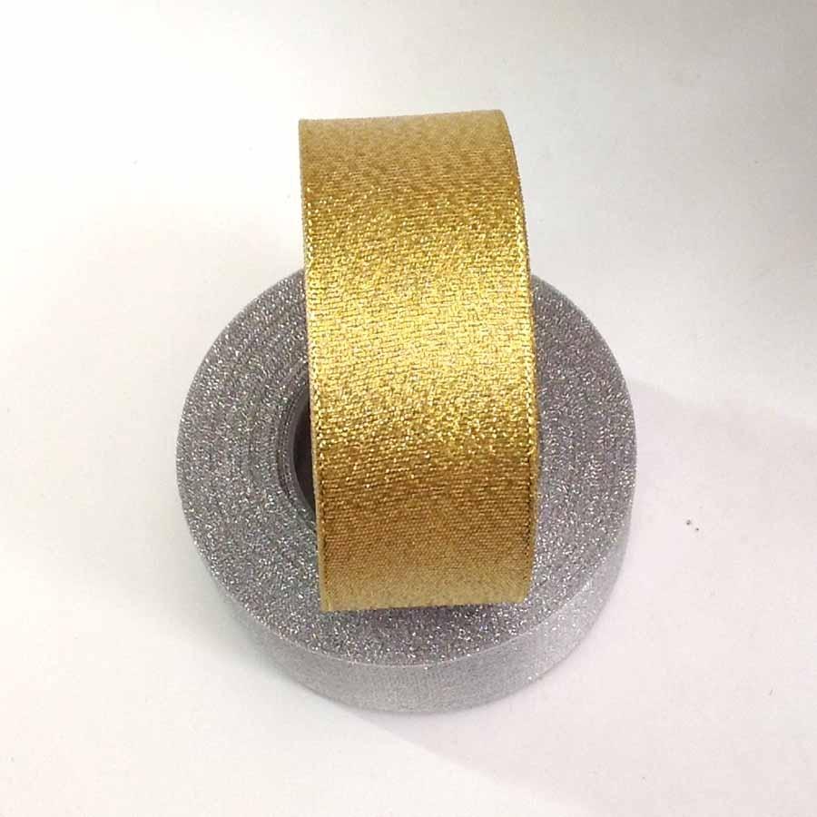 Лента парча золото 3,8см -23м