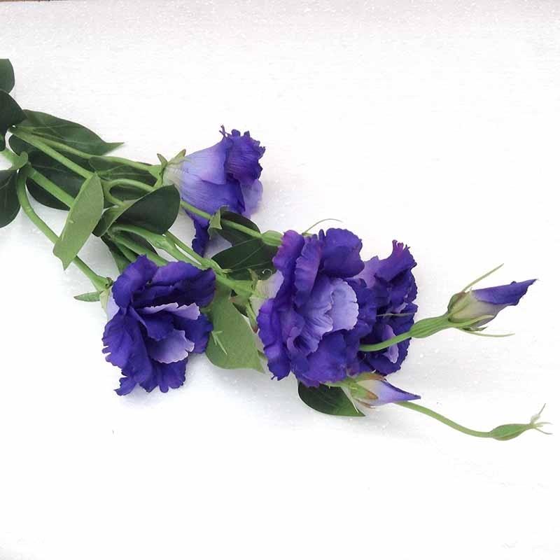 Ветка эустомы сине-фиолетовая 85см