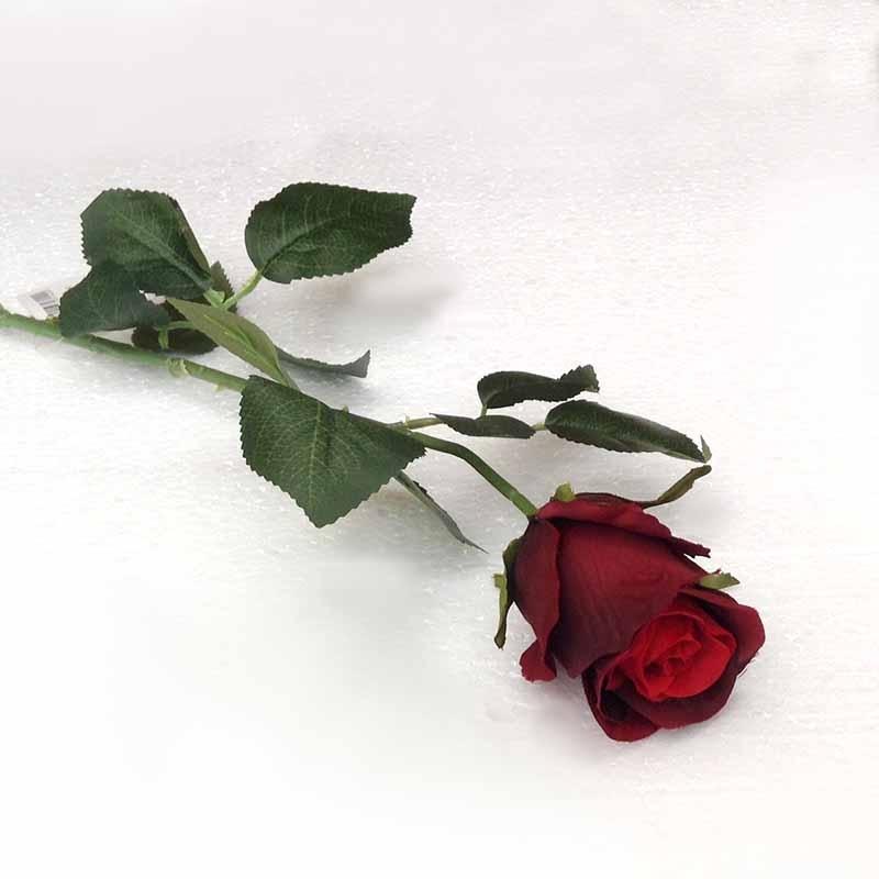 Ветка розы бордовая 70см