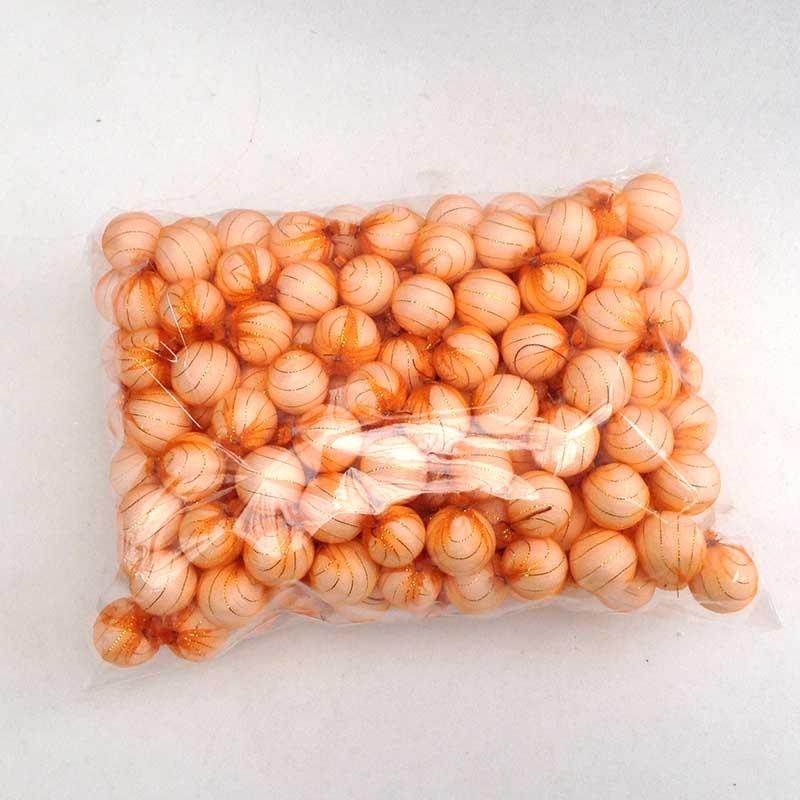 Шарики 1,5см в оранжевой органзе для рукоделия - упаковка 200шт