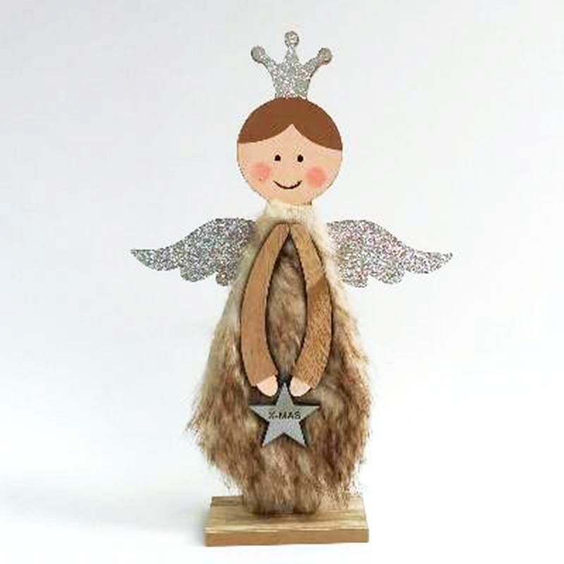 Фигурка деревянная с мехом 31см