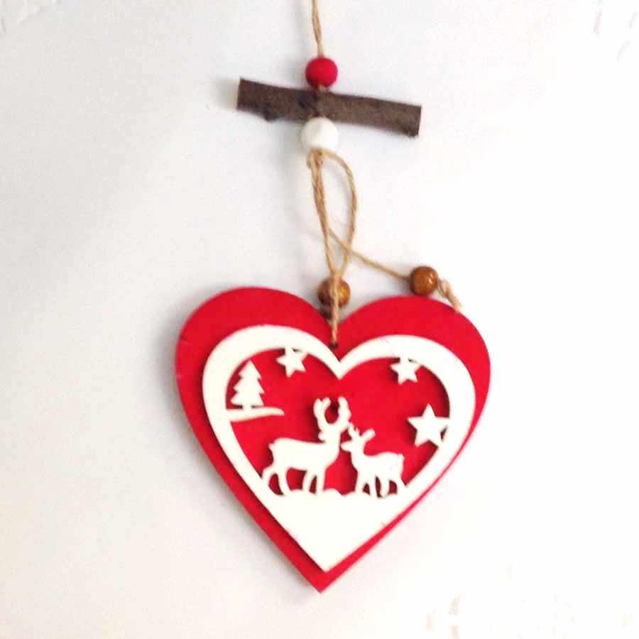 Подвеска деревянная Сердце - 10см