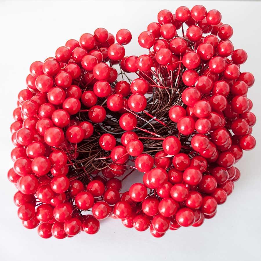 Ягодка декоративная 12мм красная