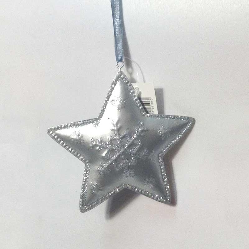 Звезда металлическая с блеском 12см