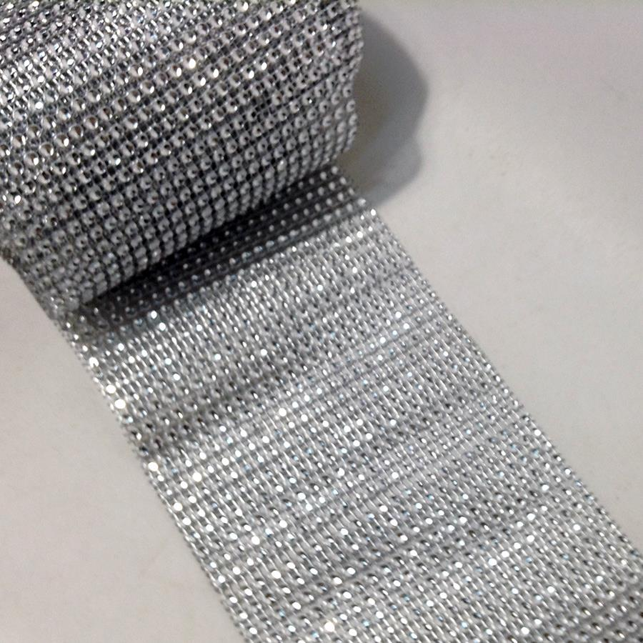 Лента декоративная имитация страз серебро-12см-9,41м - Изображение 2