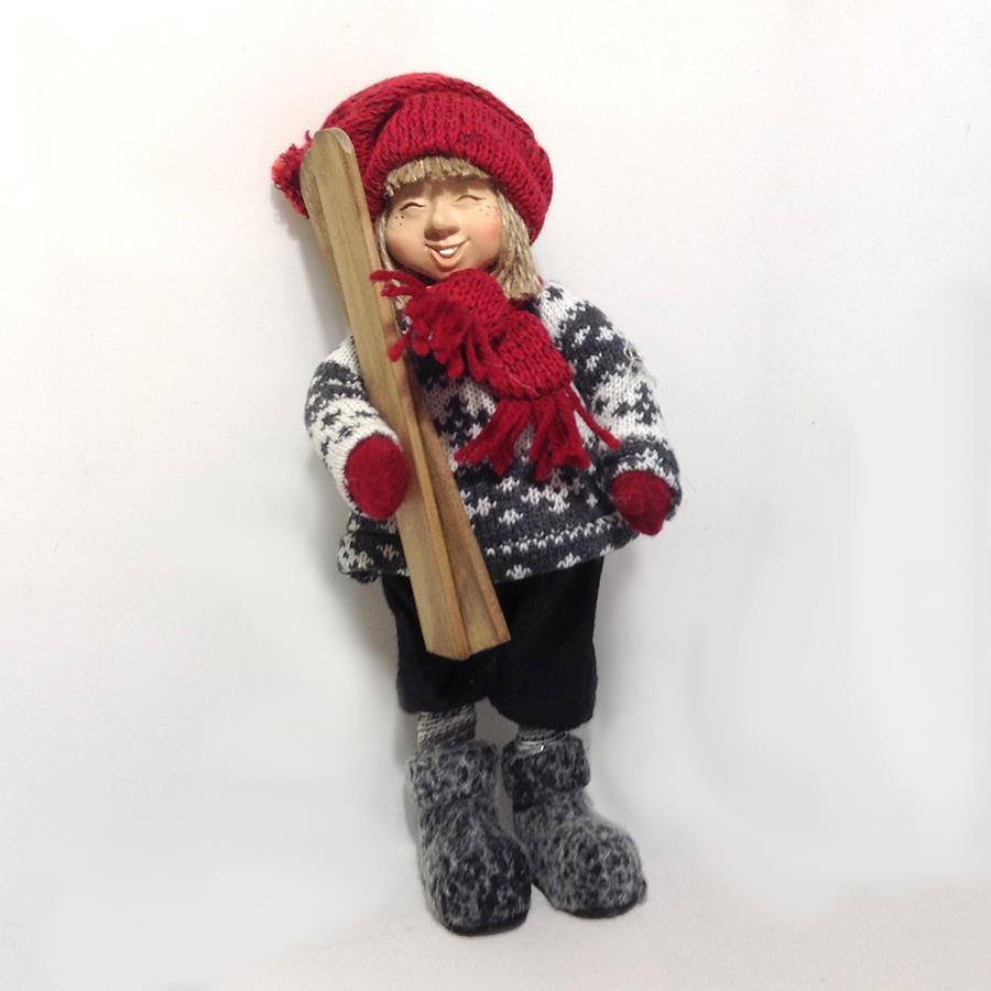Мальчик с лыжами