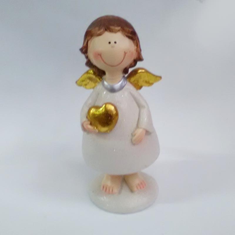 Фигурка ангела с сердечком в трех расцветках 19см