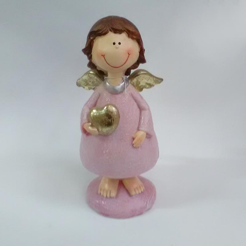 Фигурка ангела с сердечком в трех расцветках 19см - Изображение 2