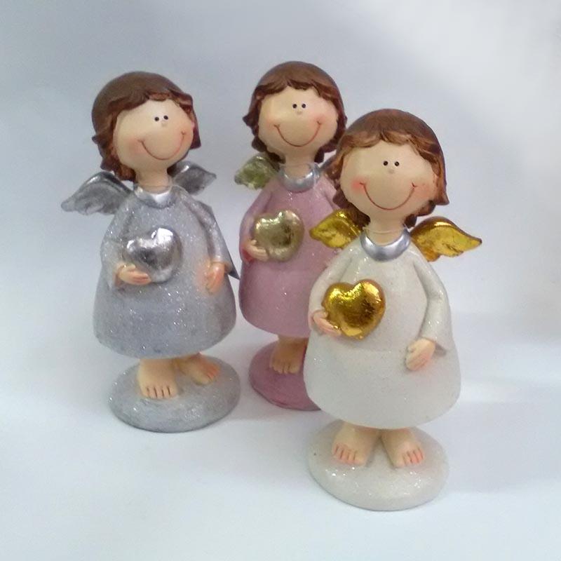 Фигурка ангела с сердечком в трех расцветках 19см - Изображение 4