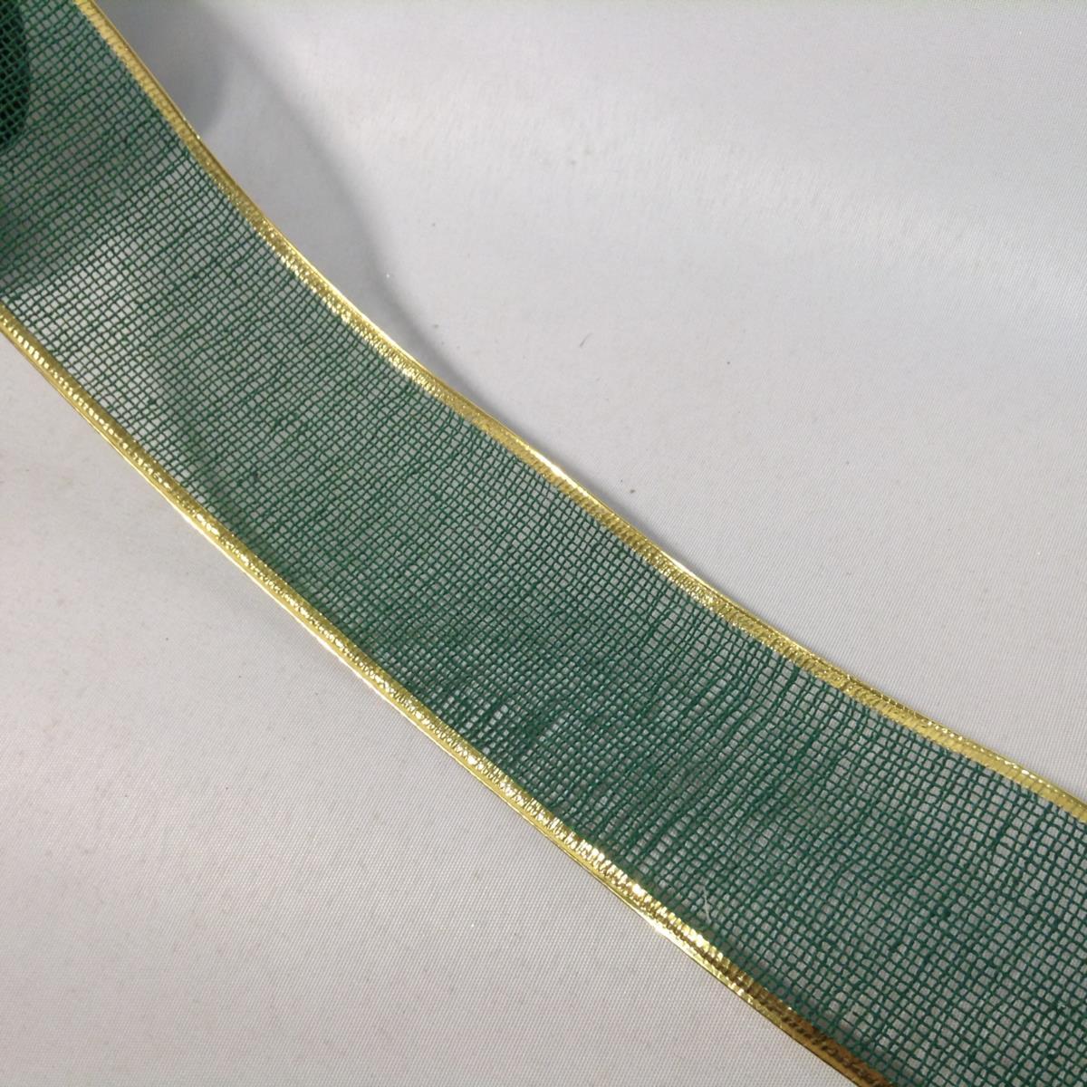 Лента- сетка с проволочным краем 4см - 1м - Изображение 2