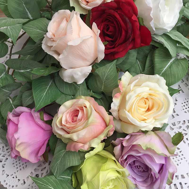 Головка розы КАРДИНАЛ салатово-пудровая темная - Изображение 2