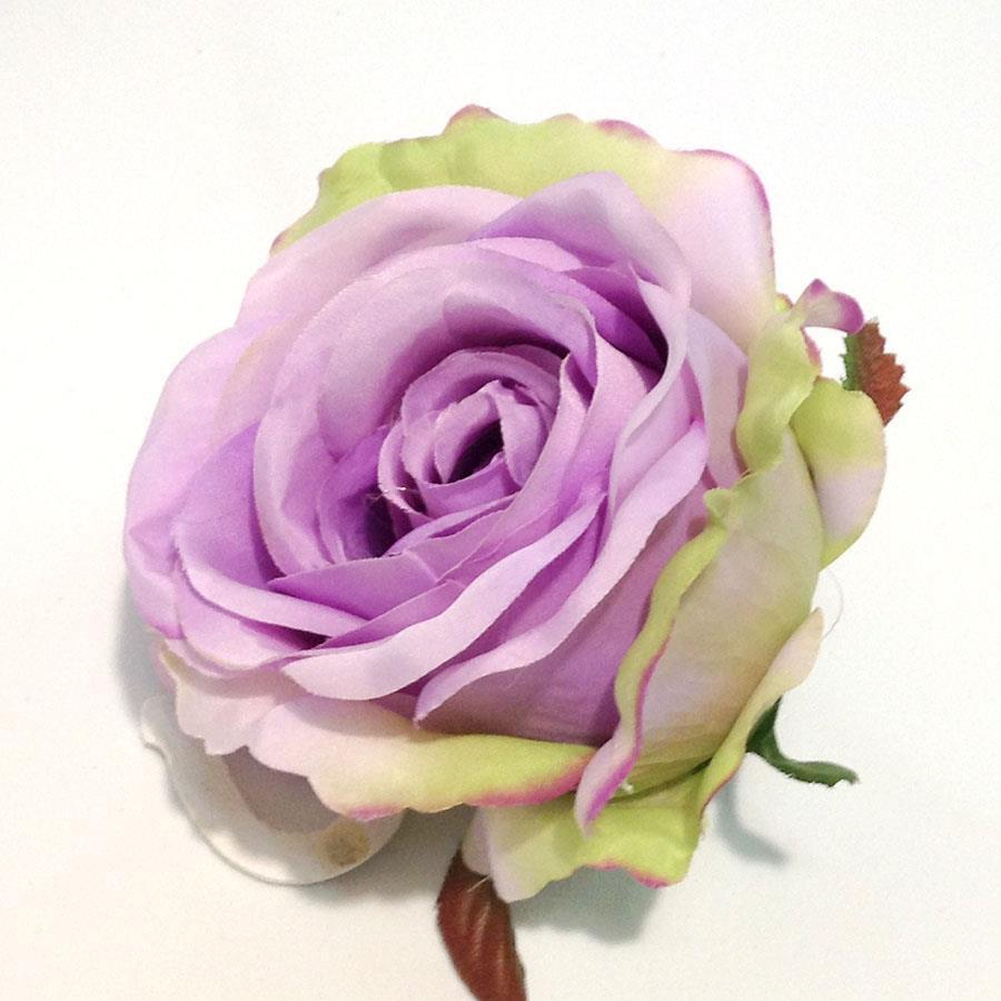 Головка розы КАРДИНАЛ сиреневая светлая - 6шт - Изображение 2