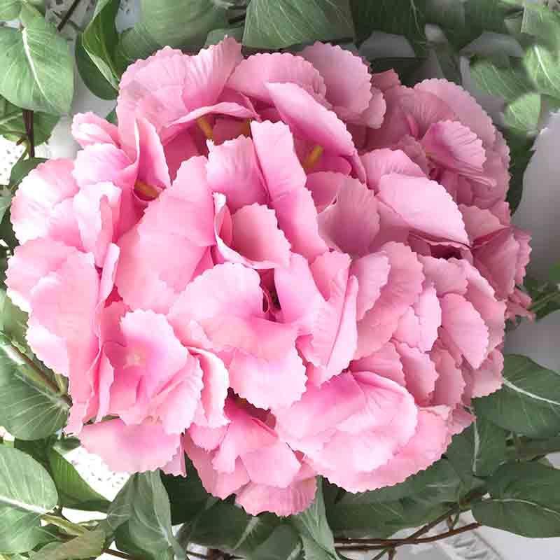 Головка гортензии крупноцветная розовая 23см